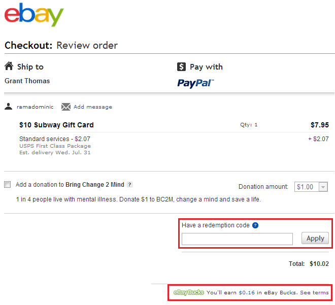 Get 8% Cash Back on every Ebay Item you Buy