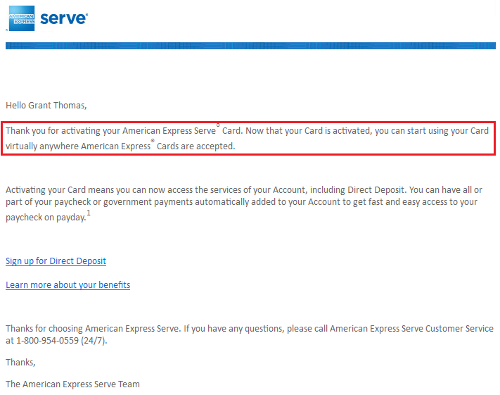Serve Welcome Email