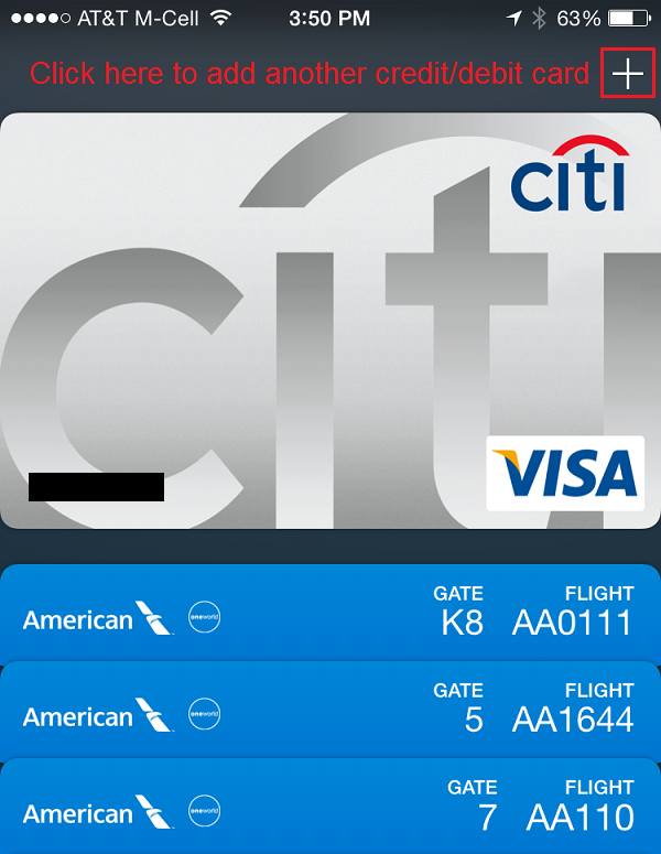 Set up apple pay in passbook on your iphone 6 plus travel with