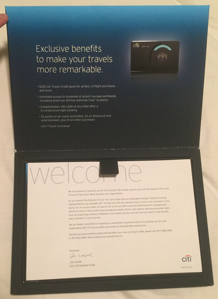 Hybrid Citi Prestige Credit Card Sign Up Bonus And Welcome