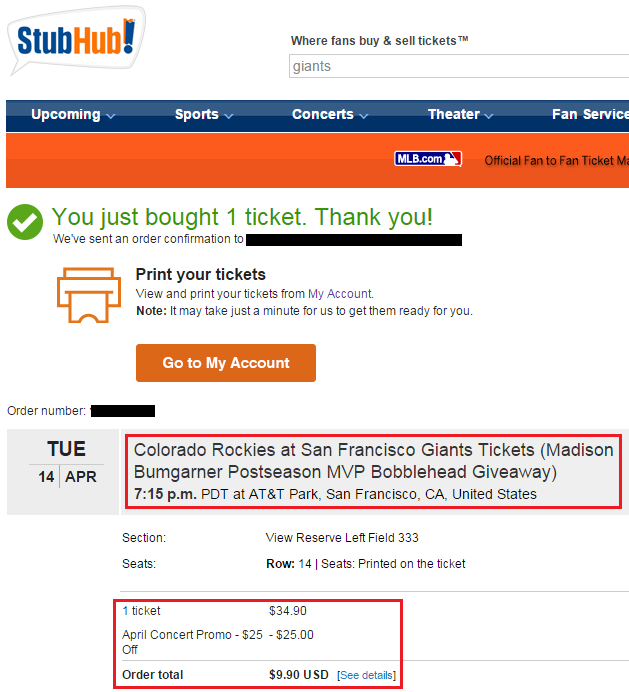 Stubhub discount coupons