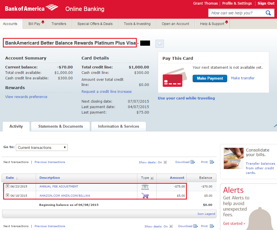how to view bank of america account number online