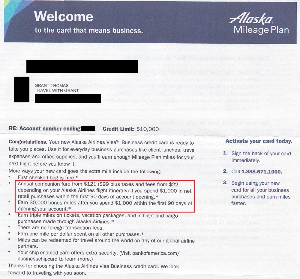 Bank of America Amtrak Alaska Airlines Biz & Barclays