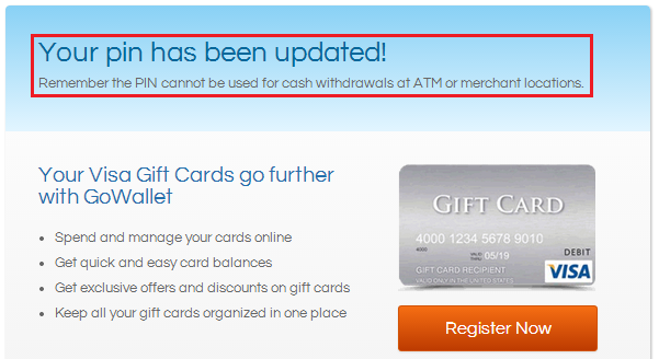 mastercard gift card pin how to guide activate a gift card and create a pin 612