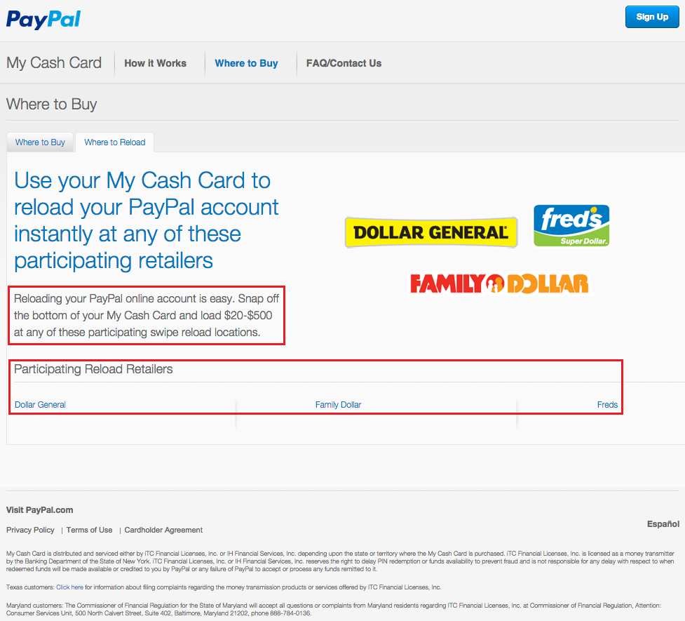 New PPMCC 08 Load PayPal Account at Merchants