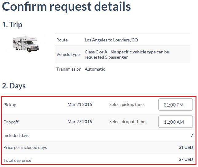 TransferCar Rental Details 1