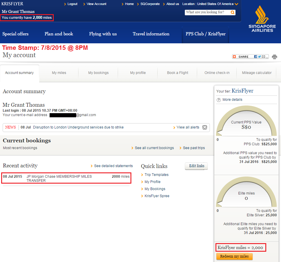 Transfer Times to Singapore Airlines from Chase Ultimate Rewards ...