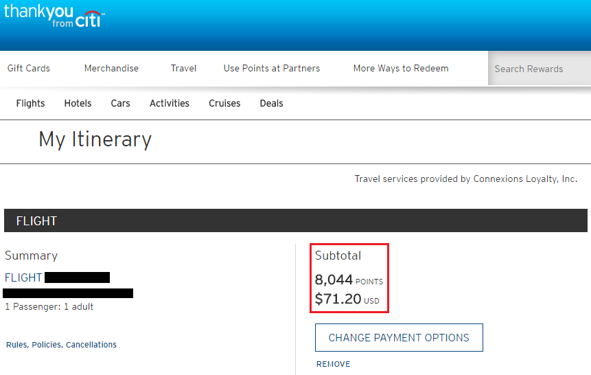 Citi TYP Reservation on Delta