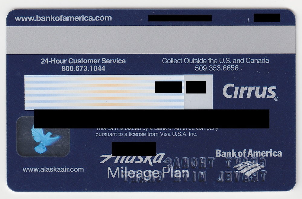 bank of america alaska airlines business credit card back - Alaska Airlines Business Credit Card