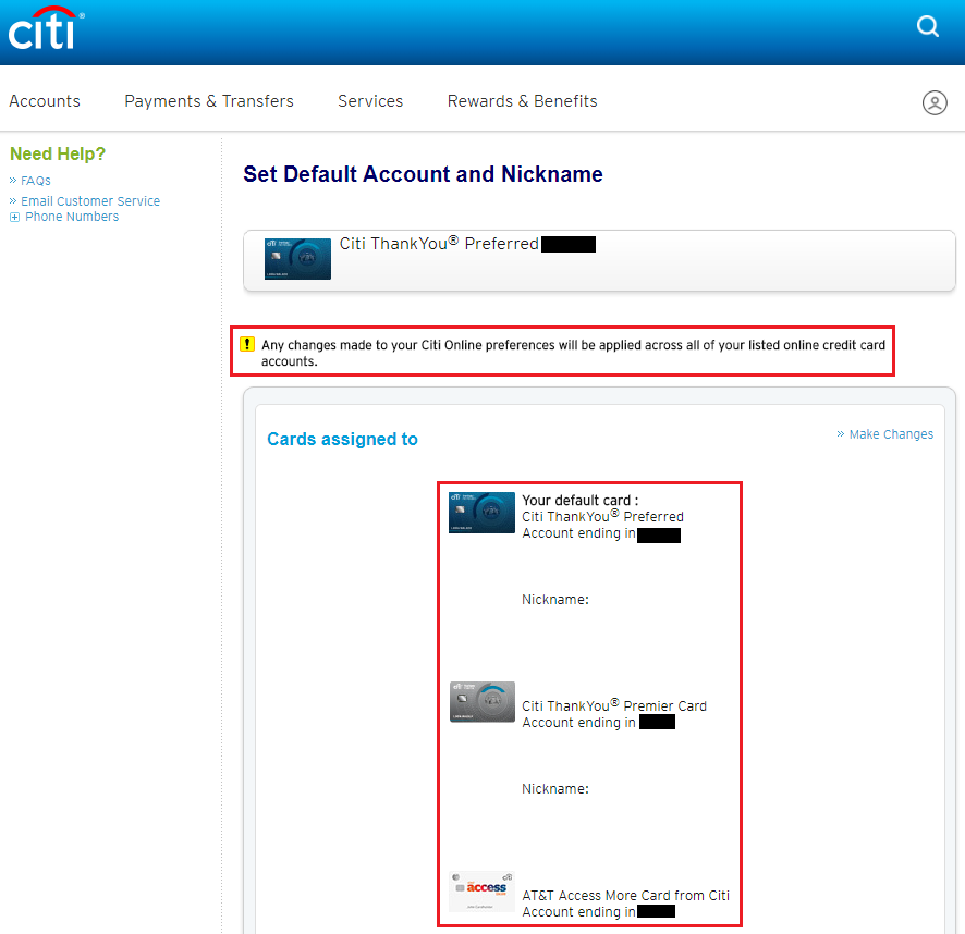 create citibank credit card online account