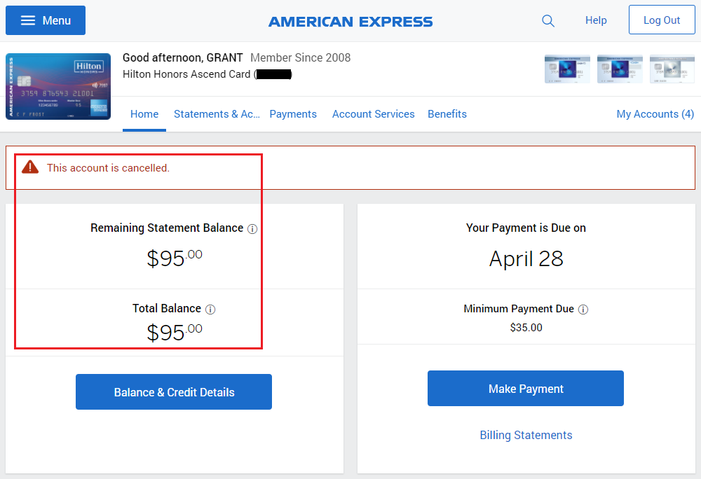 How to Remove Closed American Express Credit Cards from your Online ...