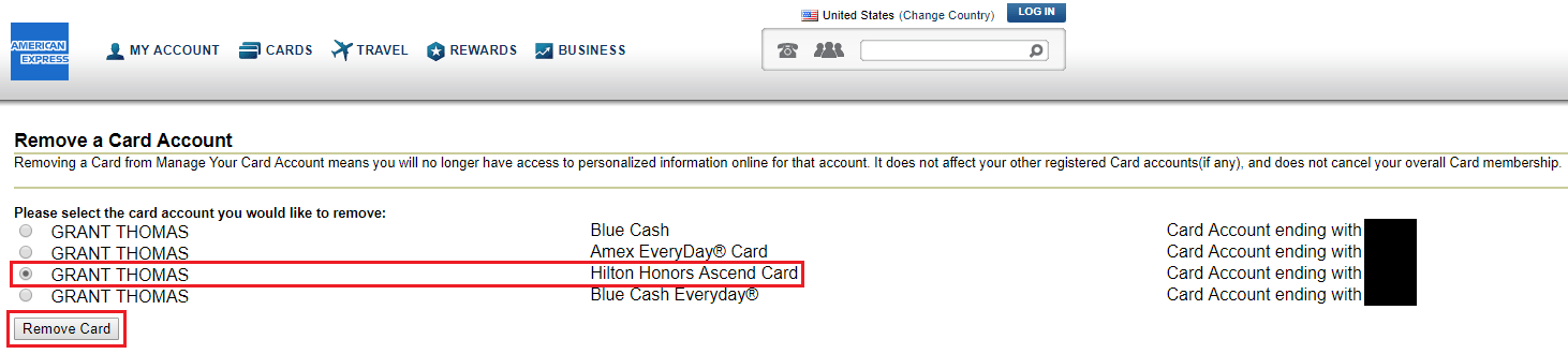 How To Remove Closed American Express Credit Cards From Your Online