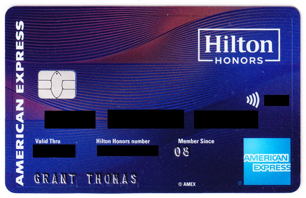 American Express Hilton Honors Business Credit Card Welcome Letter ...